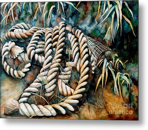 Rope Metal Print featuring the painting Delta Days by Gail Zavala