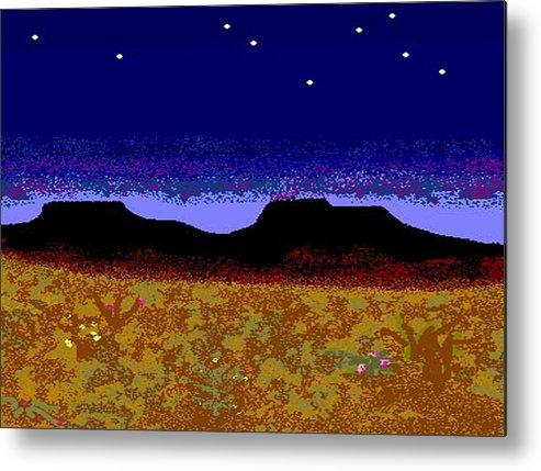 Desert Metal Print featuring the digital art Desert Eve by Carole Boyd