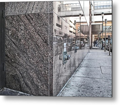 Street Metal Print featuring the photograph Downtown Philadelphia by Anthony Rapp