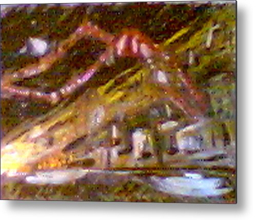 Rust Belt Metal Print featuring the digital art East Ave Three Am Christman by John Toxey