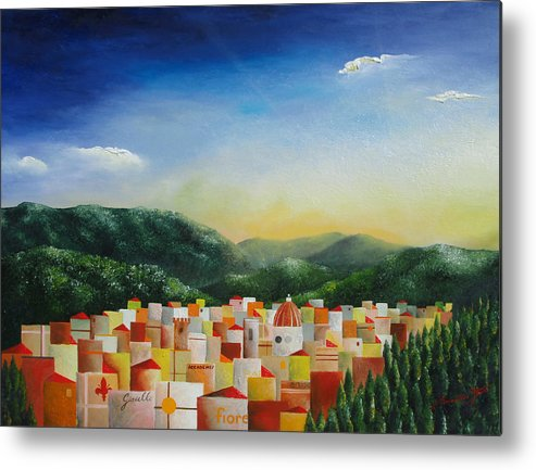 Florence Metal Print featuring the painting Firenze by Massimiliano Stanco