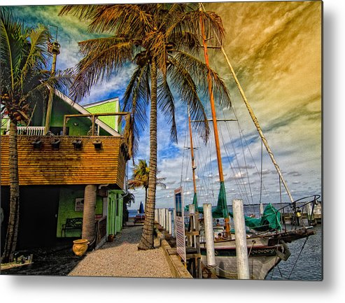 Seascape Metal Print featuring the photograph Fisherman Village by Gina Cormier