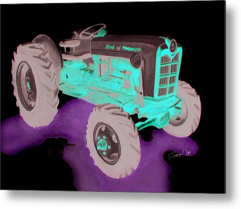 Ford Tractor Metal Print featuring the painting Ford Tractor by Ferrel Cordle