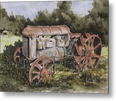 Farm Metal Print featuring the painting Fordson Model F by Sam Sidders