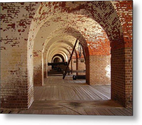 Fort Pulaski Metal Print featuring the photograph Fort Pulaski II by Flavia Westerwelle