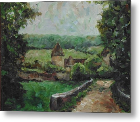 Landscape Metal Print featuring the painting France, 1993 by Susan Moore