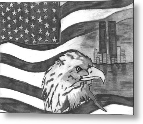 Eagle Metal Print featuring the drawing Freedom by Katina Cote