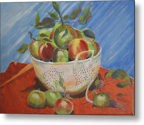 Apples Metal Print featuring the painting Future Pie by Libby Cagle