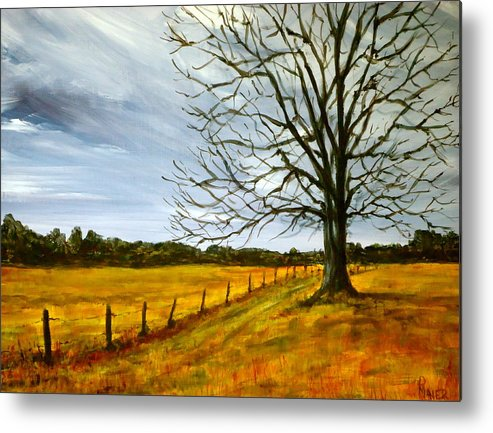 Treescape Metal Print featuring the painting Ga Winter by Pete Maier