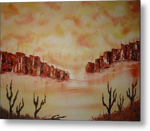 Acrylics Metal Print featuring the painting Gateway To Eternity by Laurie Kidd