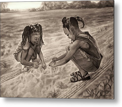 Grandma's Sand Metal Print featuring the drawing Grandma's Sand by Curtis James