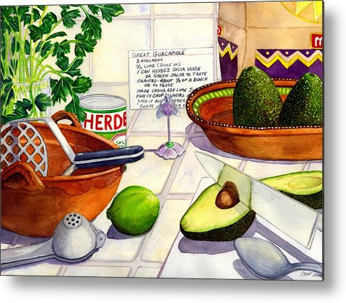 Guacamole Metal Print featuring the painting Great Guac. by Catherine G McElroy
