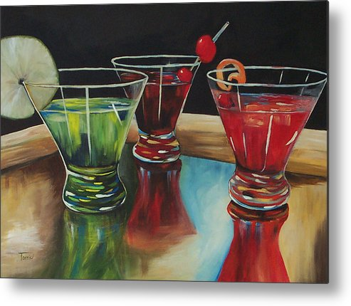 Cosmopolitan Metal Print featuring the painting Happy Hour 2007 by Torrie Smiley
