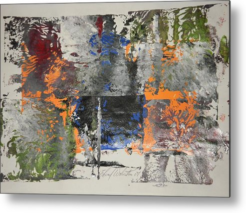Abstract Metal Print featuring the painting Havana by Edward Wolverton