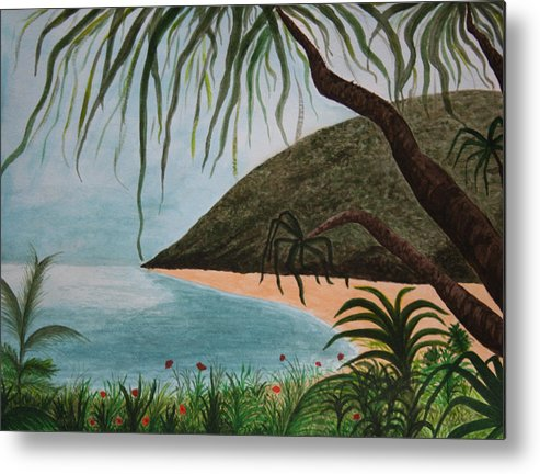 Landscape Metal Print featuring the painting Hawaii Series by Amy Parker Evans