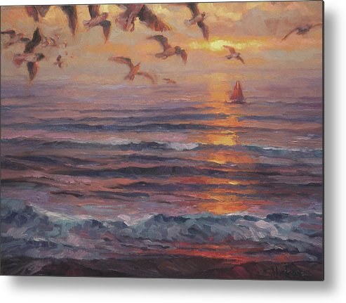 Coast Metal Print featuring the painting Heading Home by Steve Henderson
