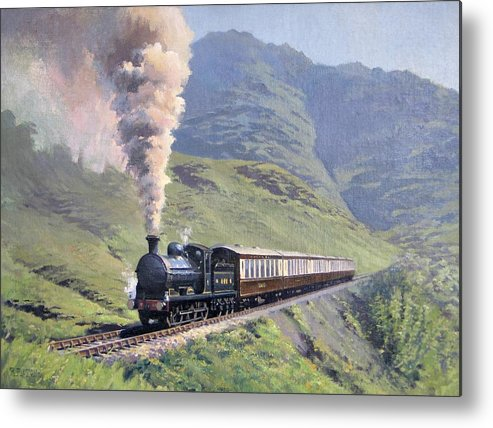 Steam Metal Print featuring the painting Highland Steam by Richard Picton