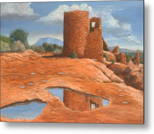 Anasazi Metal Print featuring the painting Hovenweep Reflection by Jerry McElroy