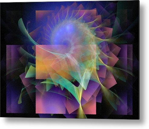 Abstract Metal Print featuring the digital art In What Far Place by NirvanaBlues