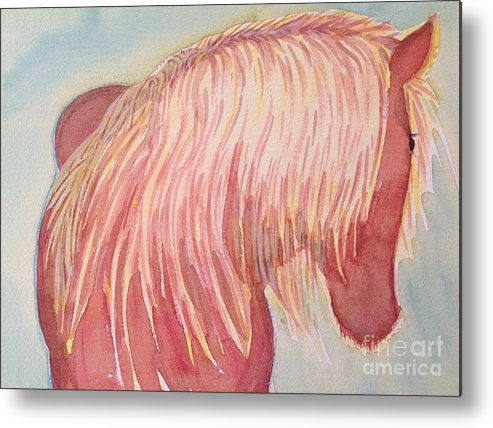 Horse Metal Print featuring the painting Joy by Virginia Vovchuk