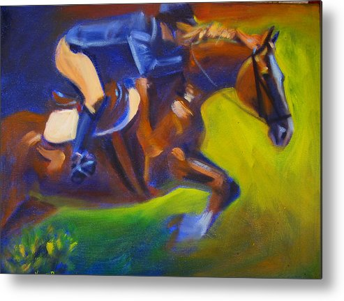 Horse Metal Print featuring the painting Jumper 2 by Kaytee Esser