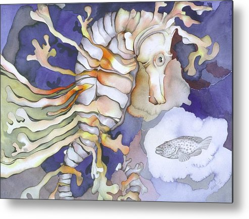 Sealife Metal Print featuring the painting Just Dreaming Too by Liduine Bekman