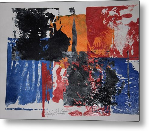 Abstract Metal Print featuring the painting Justice Is Blind by Edward Wolverton