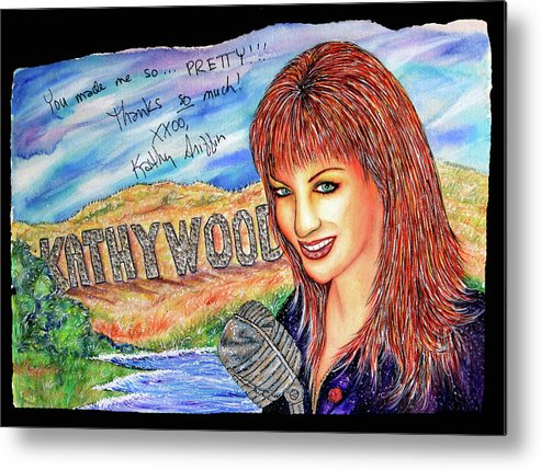 Actress Metal Print featuring the mixed media Kathywood by Joseph Lawrence Vasile