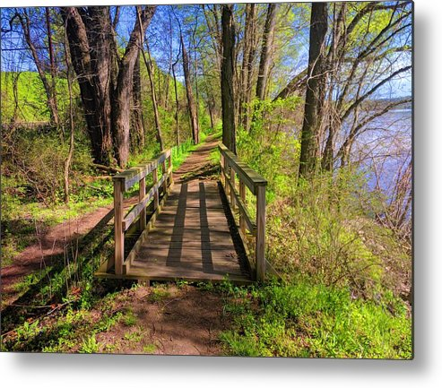 Landscape Metal Print featuring the photograph Lattice Shadows by Paul Kercher