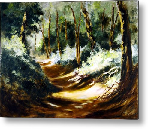 Oil Painting Metal Print featuring the painting Light N Shade by Sachin Upadhye