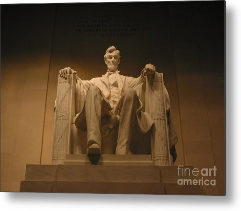 Abraham Lincoln Metal Print featuring the photograph Lincoln Memorial by Brian McDunn