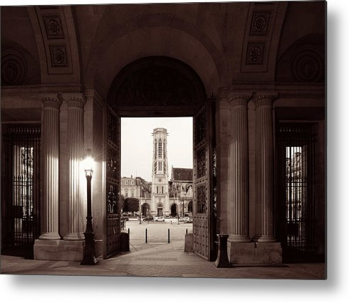 Paris Metal Print featuring the photograph Louvre Museum by Songquan Deng