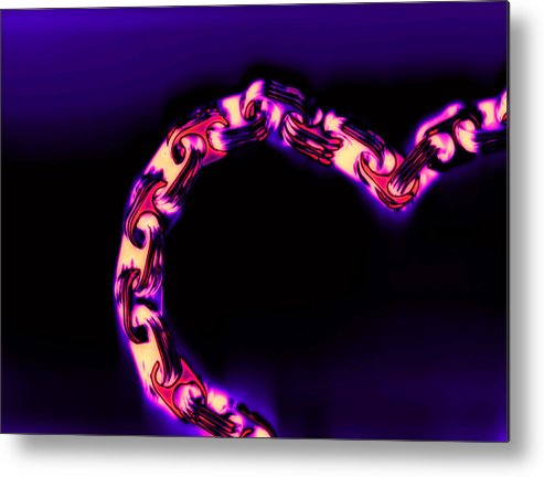 Scan Metal Print featuring the photograph Love Glows Strong by Dolly Mohr