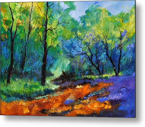 Landscape Metal Print featuring the painting Magic Forest 79 by Pol Ledent