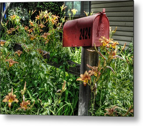 Mailbox Metal Print featuring the photograph Mailbox by Chris Fleming