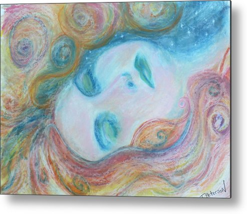 Painting Metal Print featuring the painting Morpheus Embrace by Todd Peterson