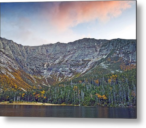 Katahdin Metal Print featuring the photograph Mount Katahdin From Chimney Pond In Baxter State Park Maine by Brendan Reals