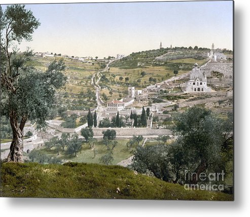 1900 Metal Print featuring the photograph Mount Of Olives, C1900 by Granger