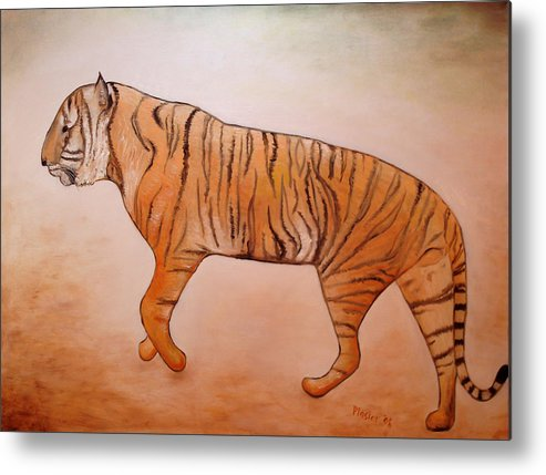 Animal Metal Print featuring the painting Mystic Tiger by Scott Plaster