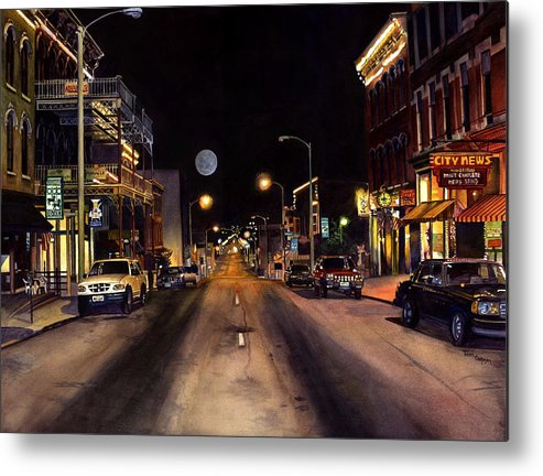Nocturne Watercolor Metal Print featuring the painting Nocturne by Terri Meyer