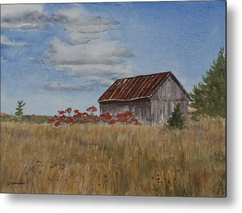 Farm Metal Print featuring the painting Old Farmer's Barn by Debbie Homewood