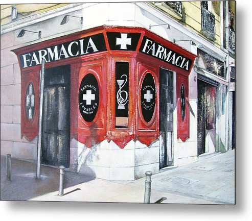 Pharmacy Metal Print featuring the painting Old Pharmacy by Tomas Castano
