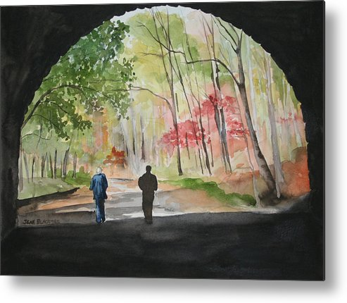 Road Metal Print featuring the painting On The Road To Nowhere by Jean Blackmer