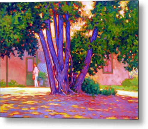 Tree Metal Print featuring the painting Open For Business by Kevin Lawrence Leveque