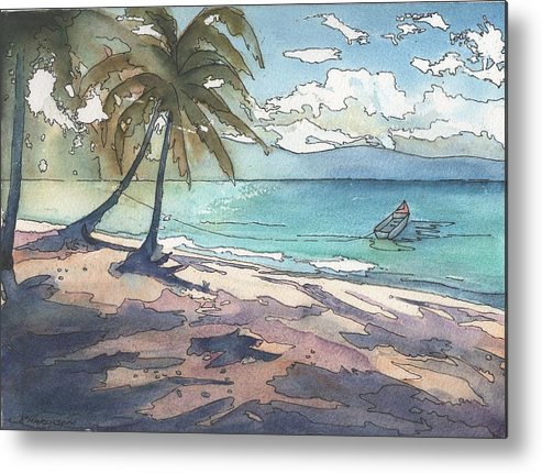 Palm Trees Metal Print featuring the painting Palm Cove by Robynne Hardison