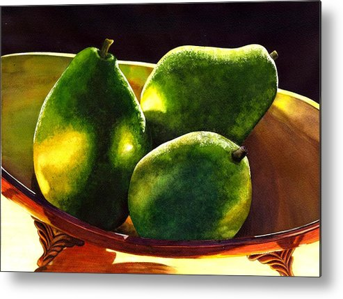Still Life Metal Print featuring the painting Pears No 2 by Catherine G McElroy