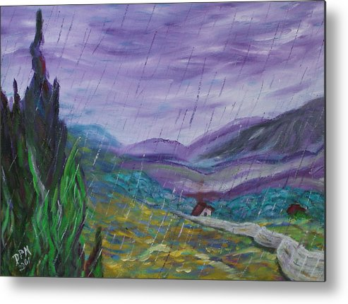 Rain Metal Print featuring the painting Rain by David McGhee