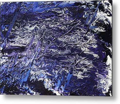 Fusionart Metal Print featuring the painting Rapid by Ralph White