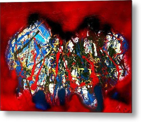 Abstract Metal Print featuring the painting Red Rock 2 by Paul Freidin