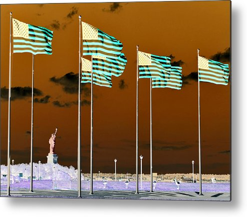 Statue Of Liberty Metal Print featuring the photograph Reversal Of Action by JoAnn Lense
